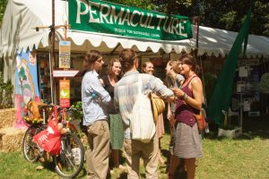 Permaculture SA / Food Forest / House of Bales stall at WOMAD 2013